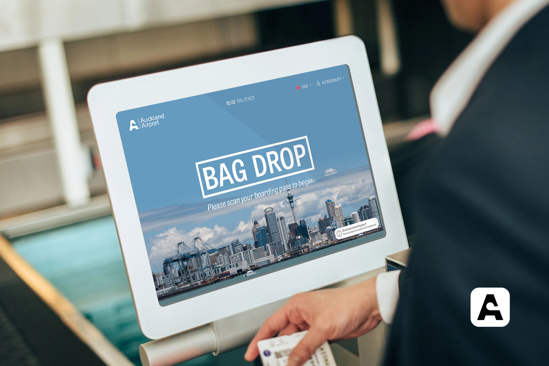 Auckland Airport Bag Drop Application Screen 1
