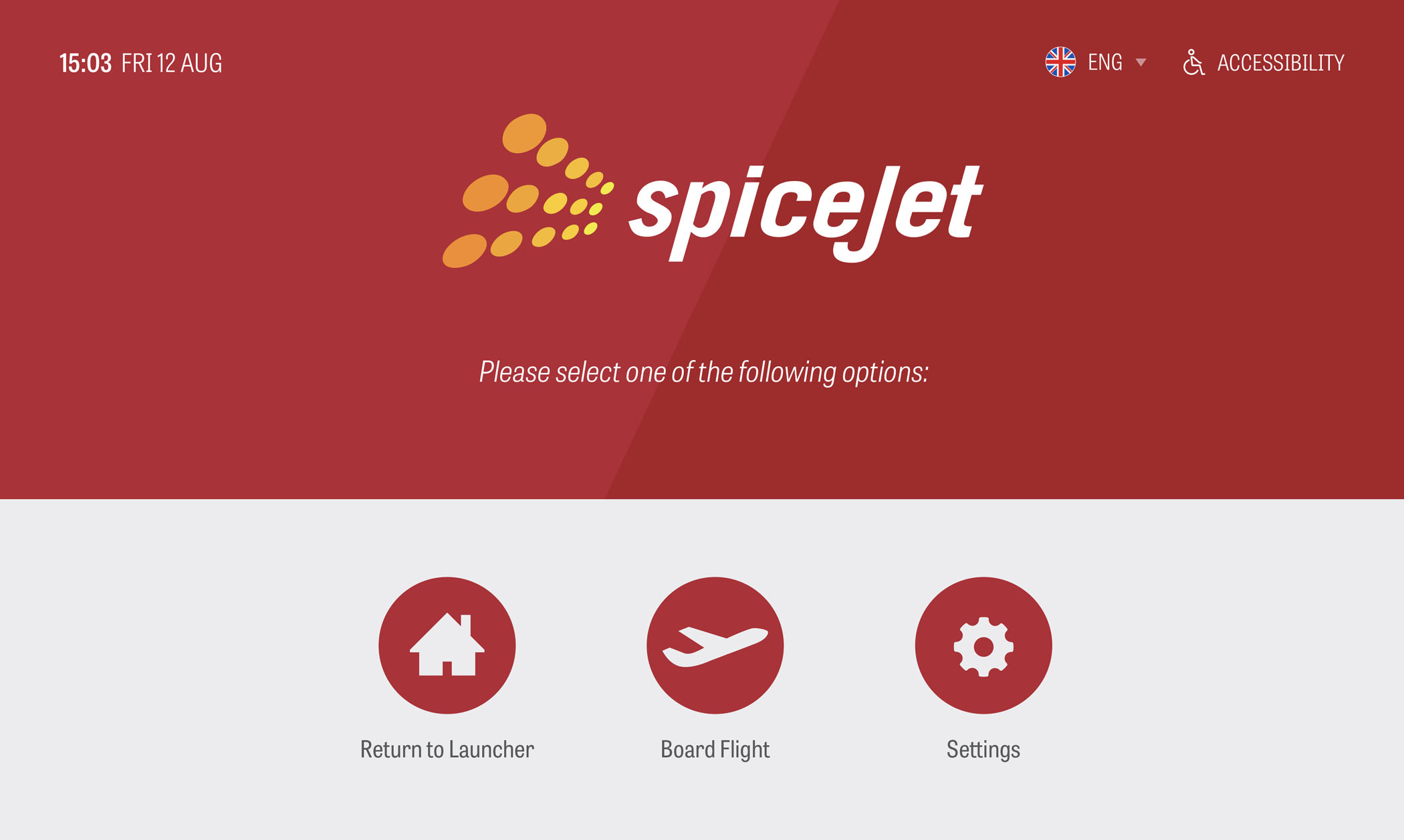 SpiceJet Service Desk Application Screen 2