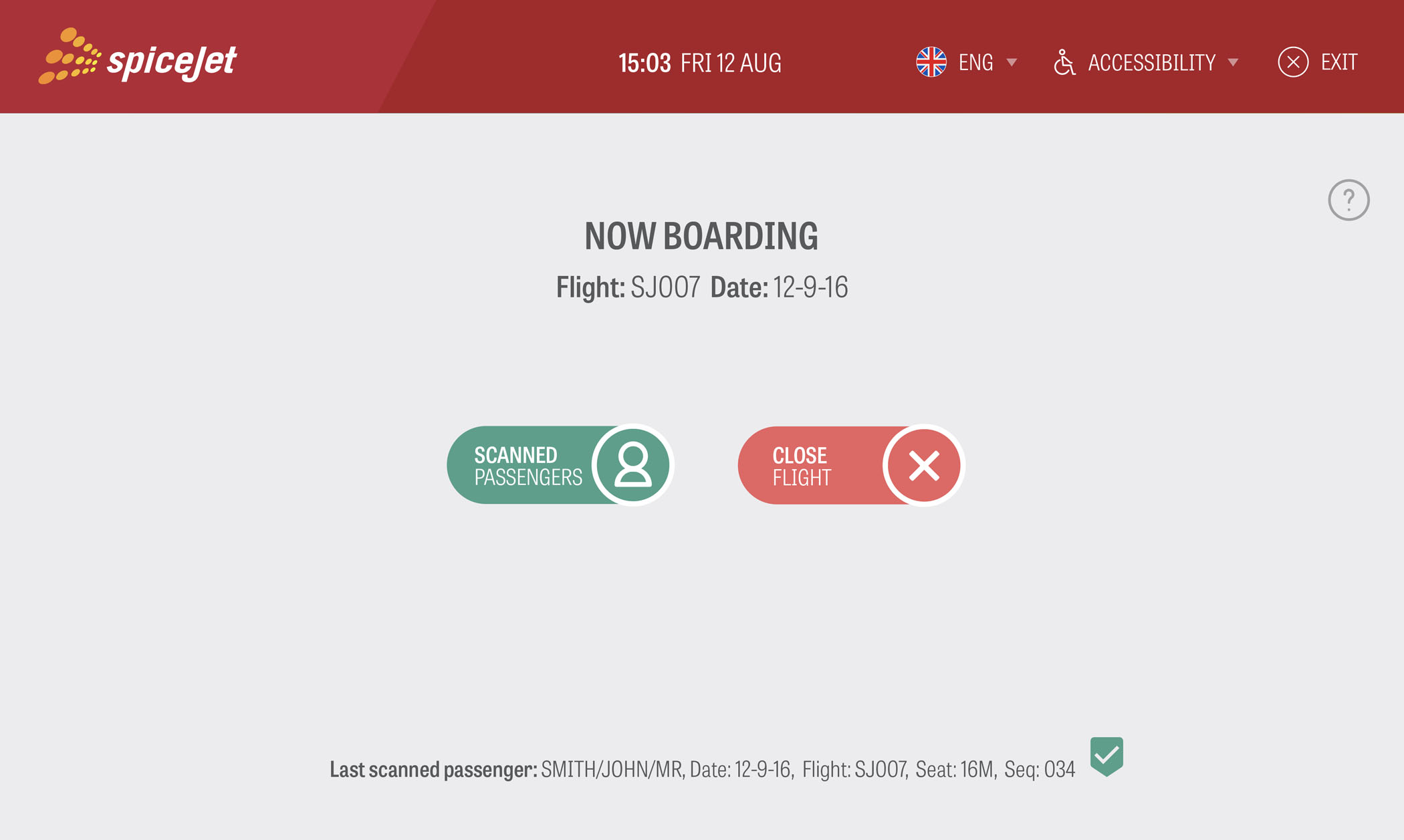 SpiceJet Service Desk Application Screen 4